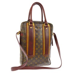 Louis Vuitton Limited Edition Mono Red Men's Top Handle Travel Tote Shoulder Bag