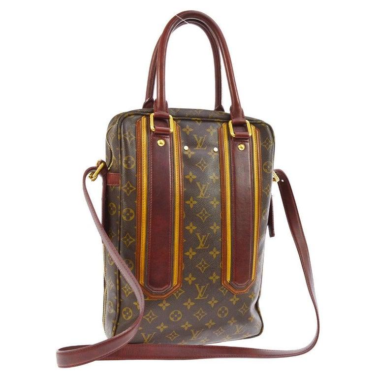dc23ff1e8fd3 Louis Vuitton Limited Edition Mono Red Men s Top Handle Travel Tote  Shoulder Bag For Sale