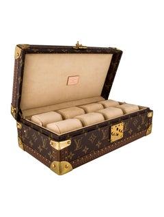 Louis Vuitton Monogram Men's Women's Watch Storage Travel Case with Keys