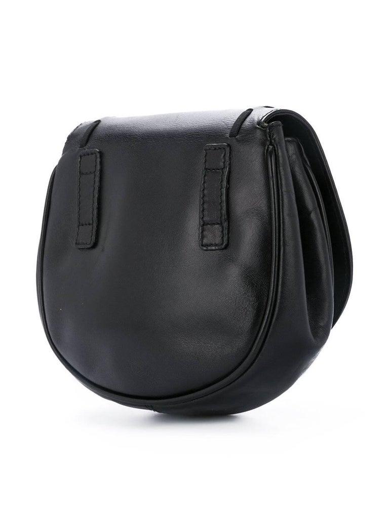 Salvatore Ferragamo Black Leather Gold 2in1 Fanny Pack Belt Bag For Sale 1