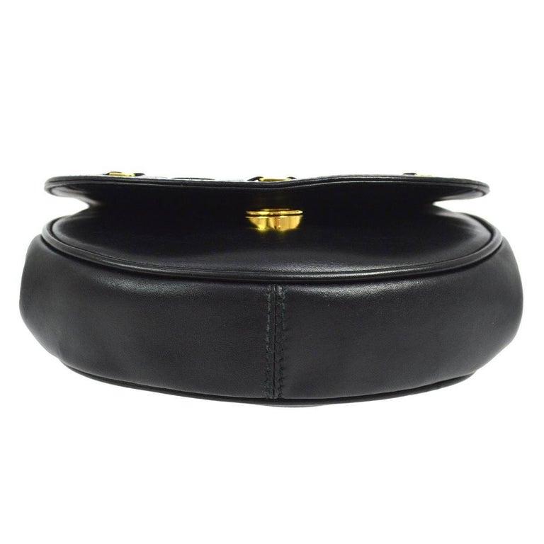 Salvatore Ferragamo Black Leather Gold 2in1 Fanny Pack Belt Bag For Sale 2
