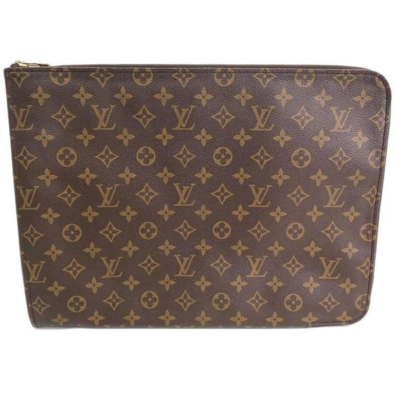 9cdab76ca9b Louis Vuitton Monogram Men's Women's Carryall Laptop Travel Briefcase  Clutch Bag