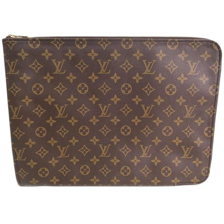 Louis Vuitton Monogram Men S Women Carryall Laptop Travel Briefcase Clutch Bag For At 1stdibs