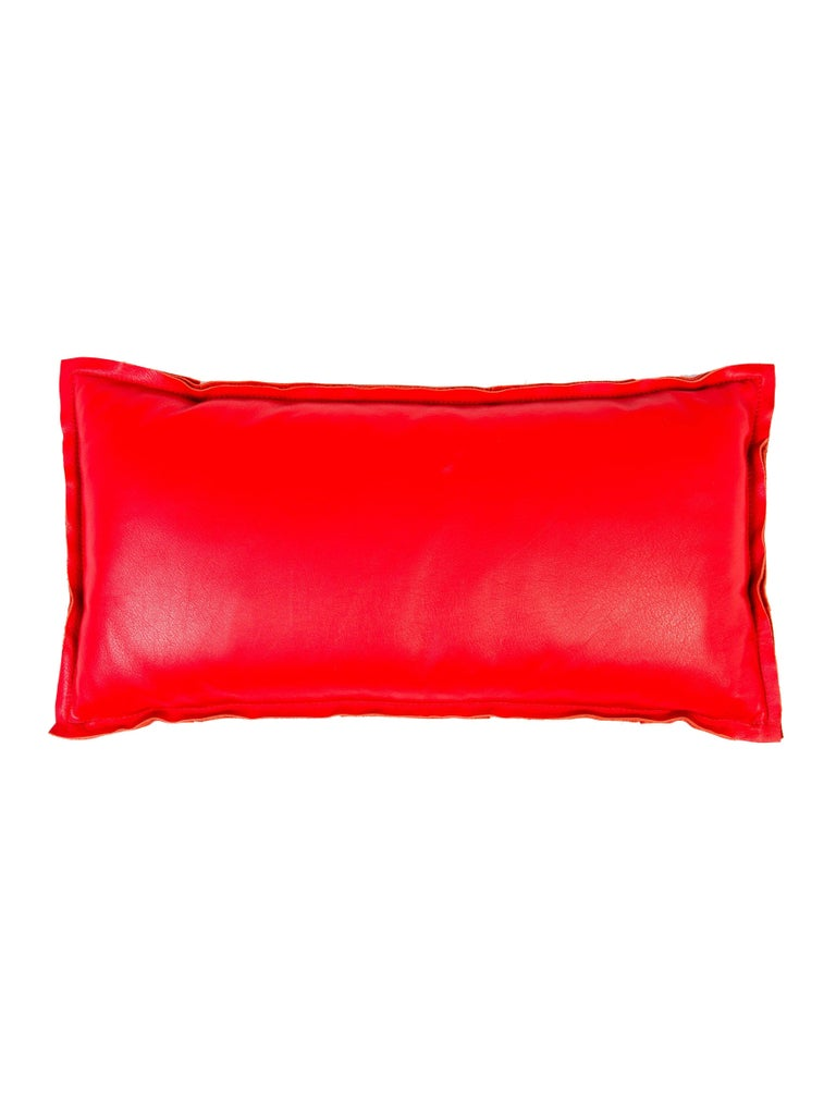 Red Leather Decorative Pillow : Fendi Red Leather Logo Home Decorative Couch Chair Throw Pillow For Sale at 1stdibs