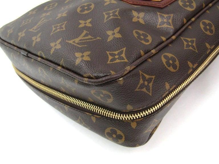 Louis Vuitton Limited Edition Mono Men's Top Handle Travel Tote Shoulder Bag For Sale 3