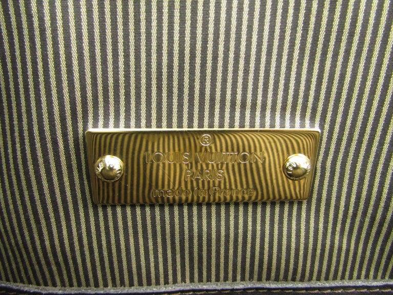Louis Vuitton Limited Edition Mono Men's Top Handle Travel Tote Shoulder Bag For Sale 4