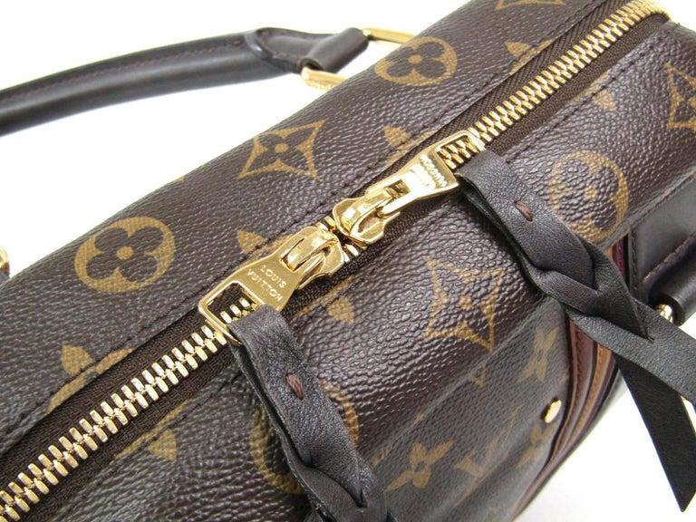 Louis Vuitton Limited Edition Mono Men's Top Handle Travel Tote Shoulder Bag For Sale 1