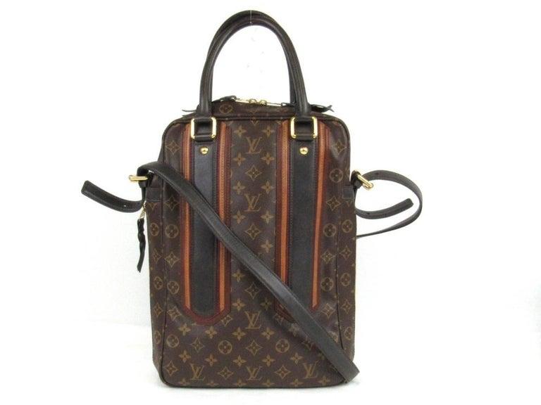 Black Louis Vuitton Limited Edition Mono Men's Top Handle Travel Tote Shoulder Bag For Sale