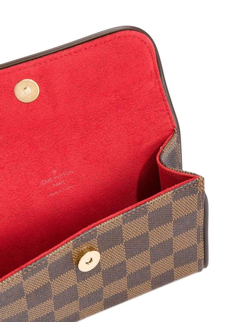 Louis Vuitton Brown Damier Men's Women's Fanny Pack Waist Bag For Sale 4