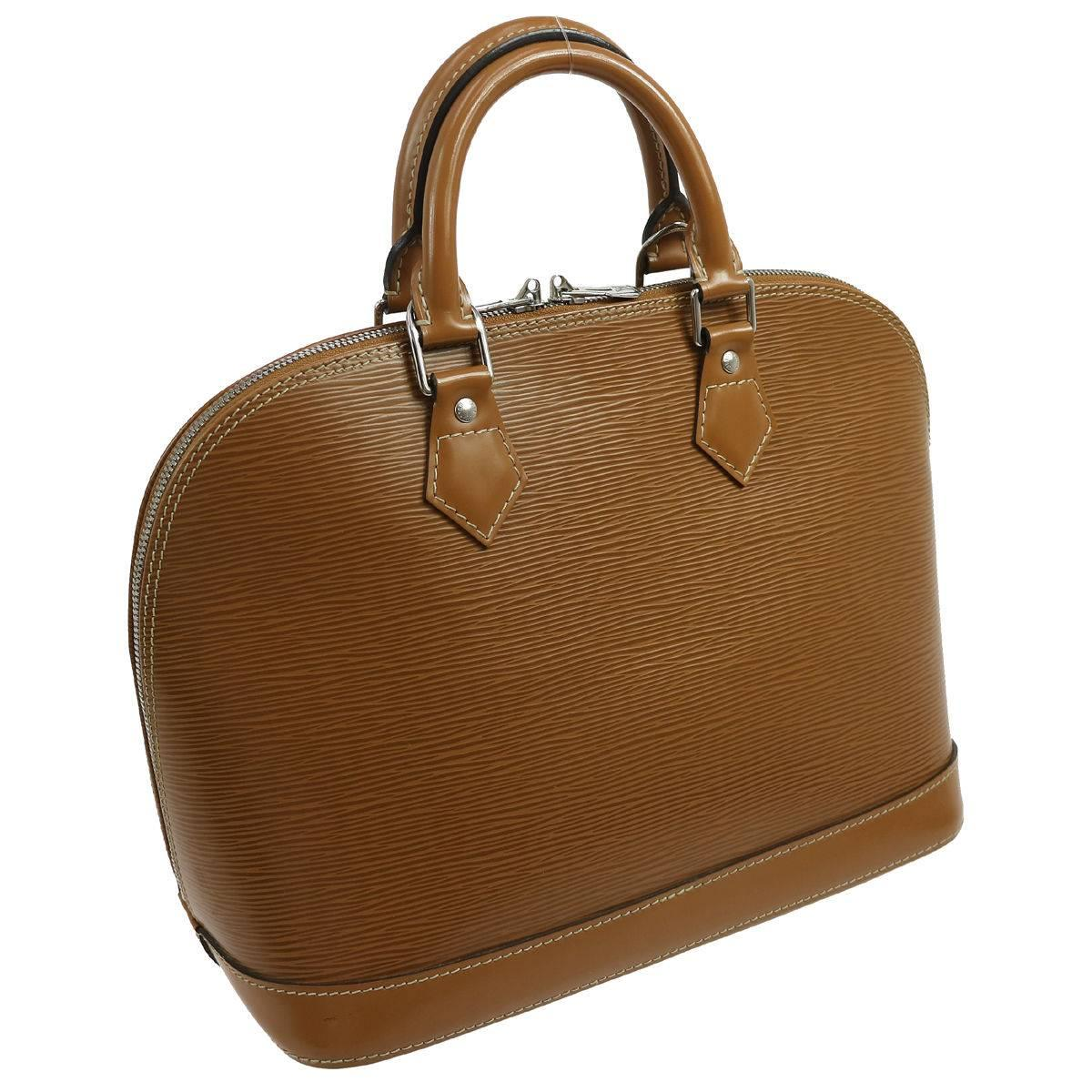 Louis Vuitton Cognac Leather Evening Top Handle Satchel Bag Oz4WG