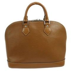 Louis Vuitton Caramel Cognac Leather Evening Top Handle Satchel Bag