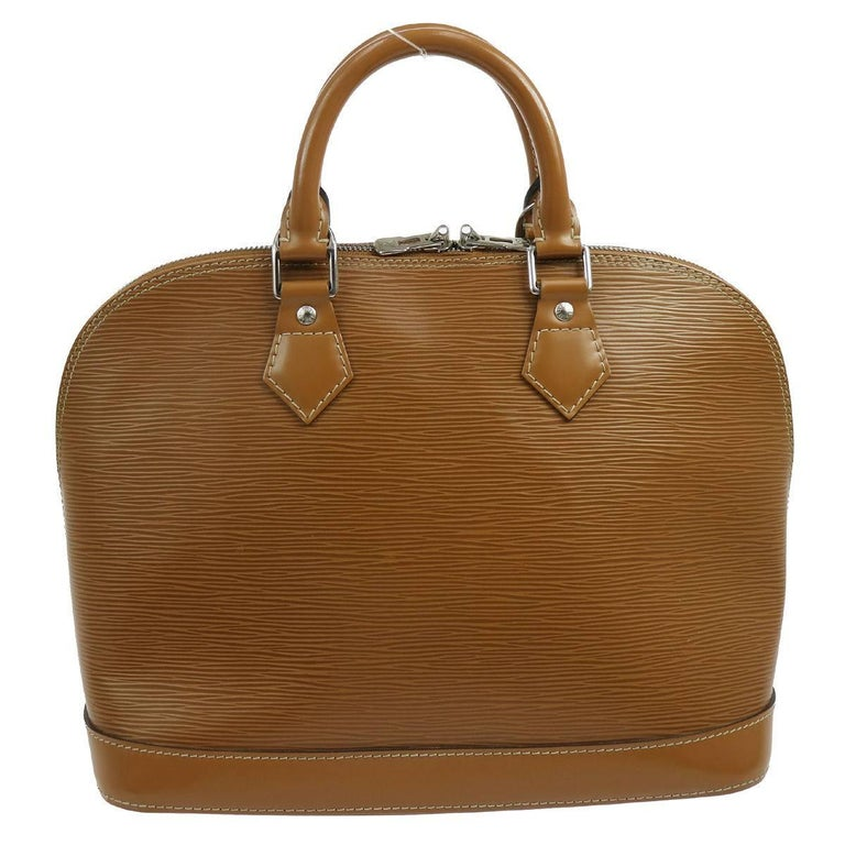 Louis Vuitton Cognac Leather Evening Top Handle Satchel Bag