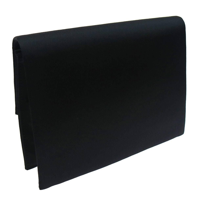 4a2ac23051a3 YSL Black Satin Rhinestone Bow Evening Envelope Clutch Bag For Sale at  1stdibs