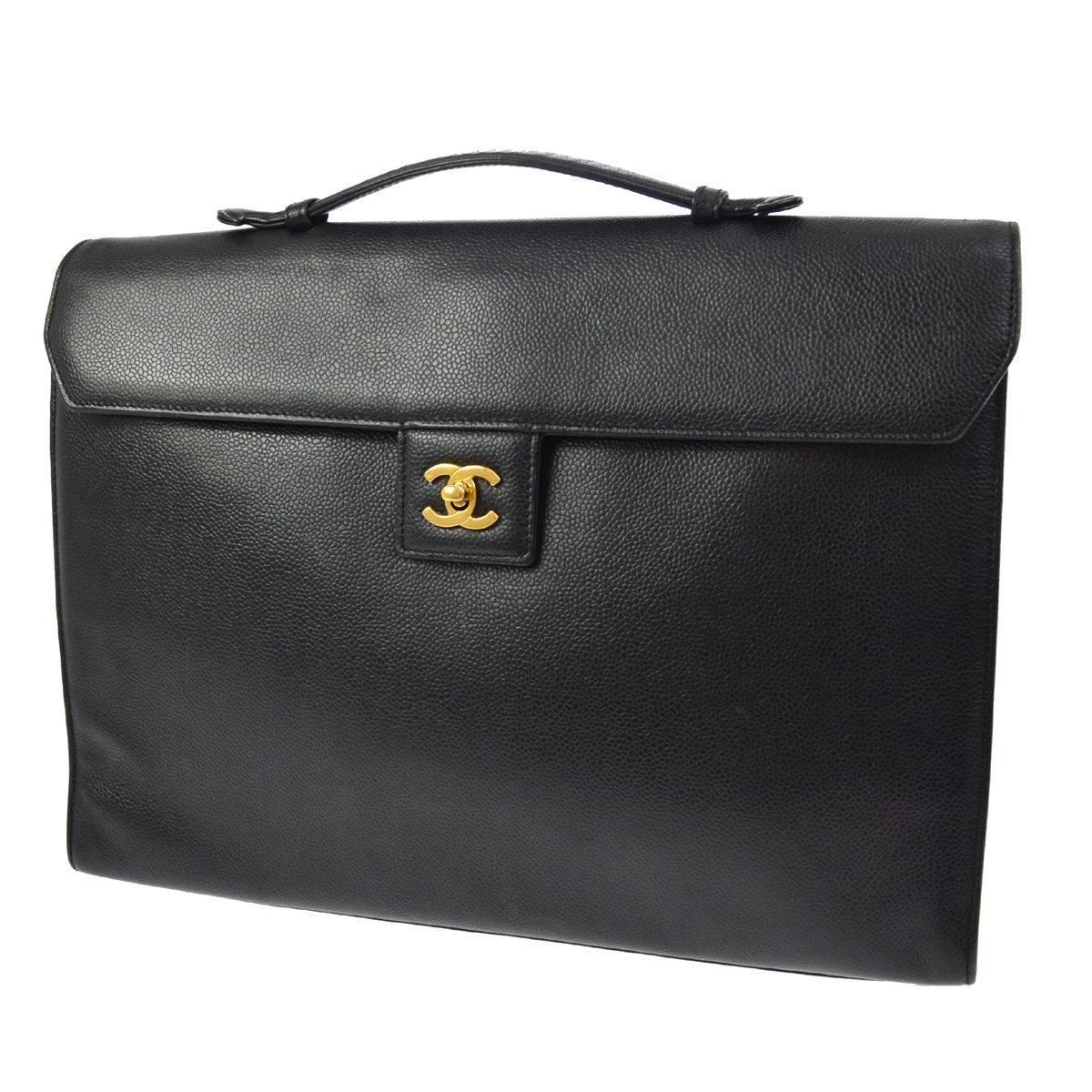 Chanel Back Leather Top Handle Men's Women'
