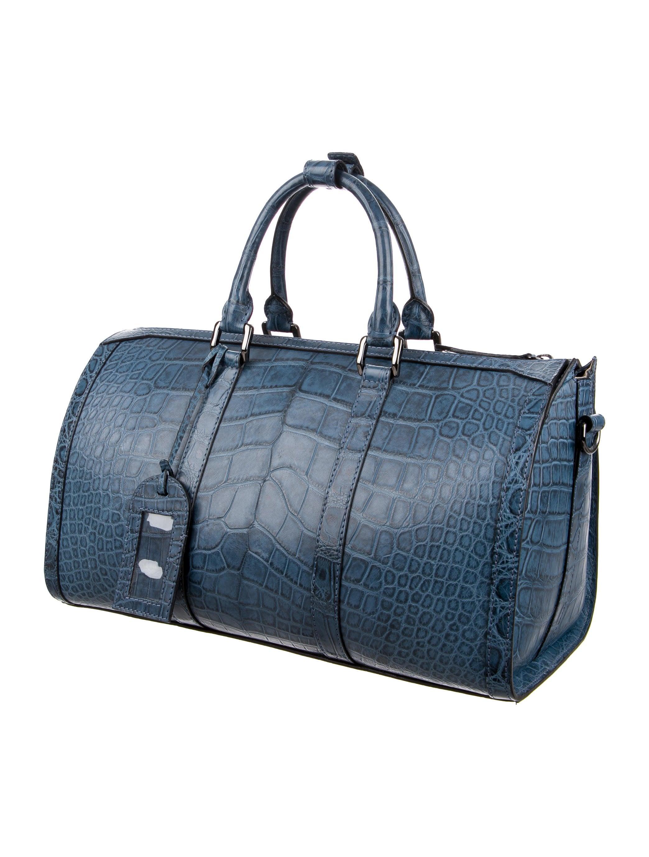 Burberry Ltd Ed Blue Alligator Travel Weekend Large Duffle Bag at 1stdibs 32775abd03