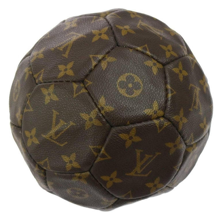 528b123c95f9 Louis Vuitton Monogram Collector's Soccer Ball in Leather Carrying Strap  Holster From France World Cup 1998