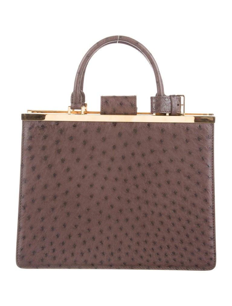 Gray Louis Vuitton Taupe Brown Gold Exotic Kelly Satchel Bag For Sale