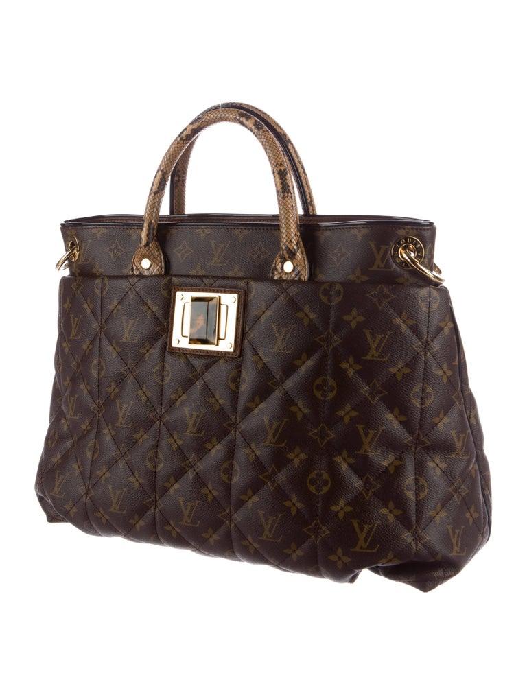 Louis Vuitton Men S Women Monogram Large Weekender Travel Python Carryall Top Handle Satchel Tote Shoulder Bag