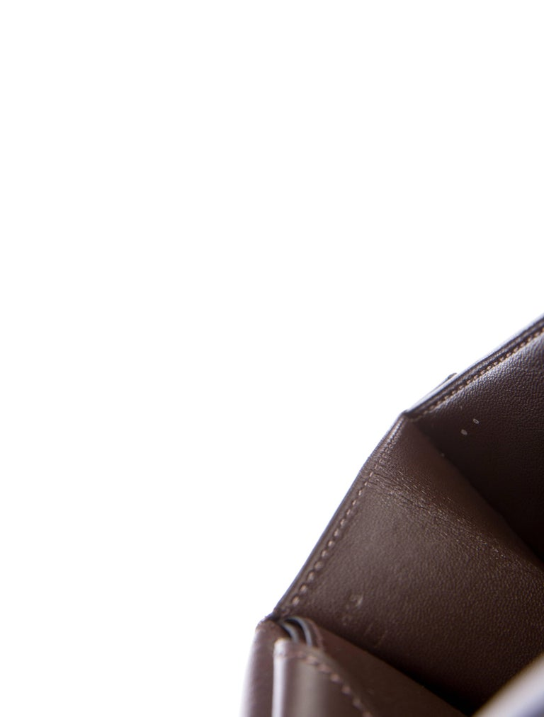 Women's Hermes Brown Leather H Buckles Evening Top Handle Satchel Bag For Sale