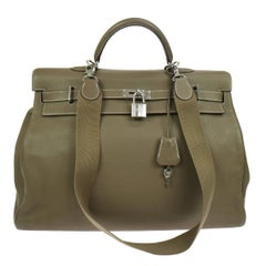 Hermes Kelly 50 Men's Travel Weekender Carryall Top Handle Tote Shoulder Bag