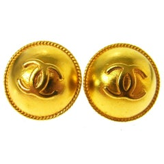 Chanel Gold Stud Evening Earrings