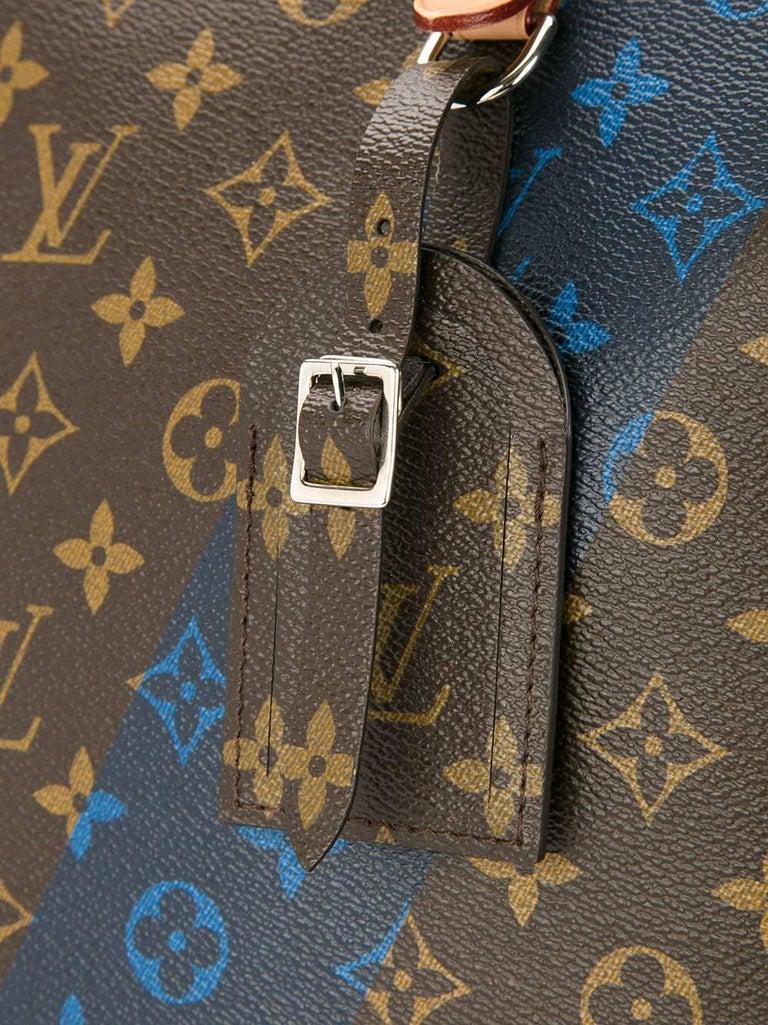Black Louis Vuitton Monogram Men's Carryall Travel Tote Shoulder Bag For Sale