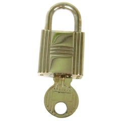 Hermes Palladium Handbag Travel Bag Padlock With Key