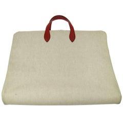 Hermes Canvas Men's Women's Garment Carryall Travel Storage Top Handle Tote Bag