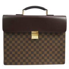 Louis Vuitton Monogram Men's Travel Top Handle Briefcase Bag