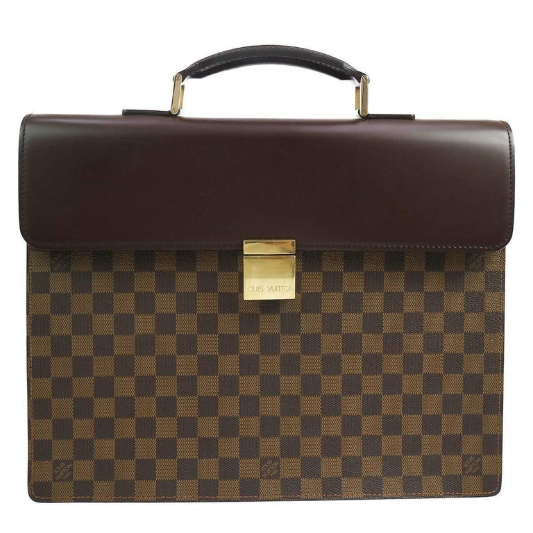 Louis Vuitton Monogram Men S Travel Top Handle Briefcase Bag For