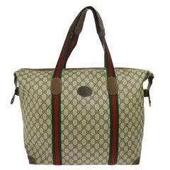Gucci Monogram Canvas Men's Weekender Carryall Duffle Travel Shoulder Tote Bag