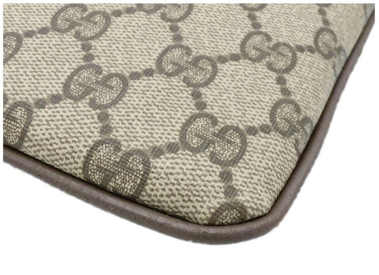 Gucci Monogram GG Men's Portfolio Travel iPad Laptop Travel Envelope Clutch Bag For Sale 1