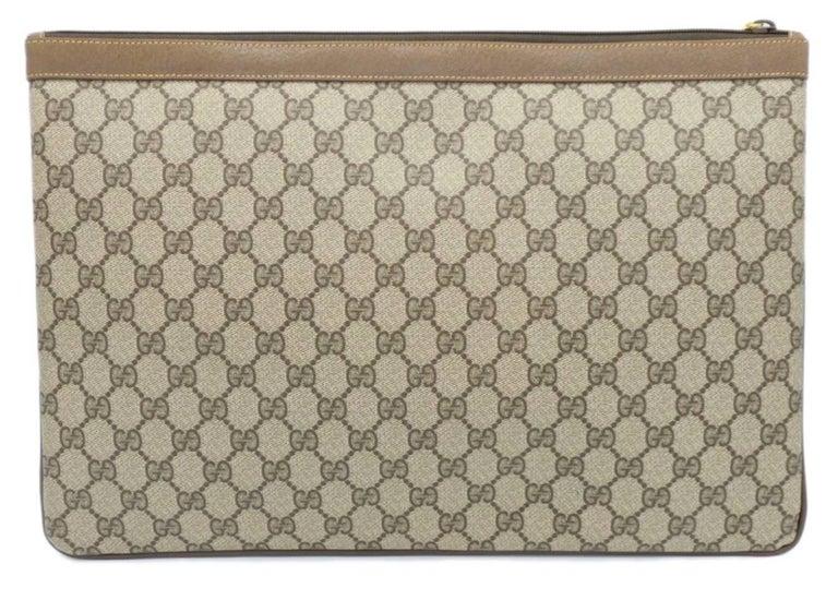 Women's Gucci Monogram GG Men's Portfolio Travel iPad Laptop Travel Envelope Clutch Bag For Sale