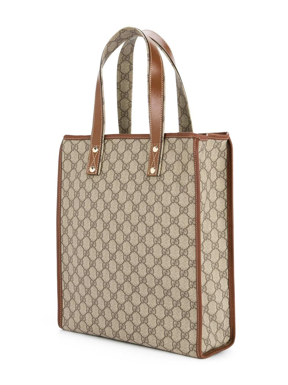 Gucci Monogram Logo Mens Large Carryall Travel Shoulder Top Handle Tote Bag mHX8B7d