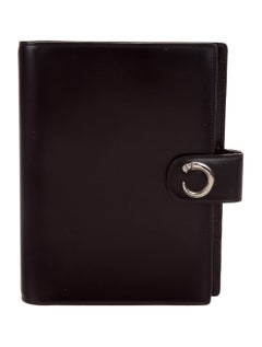 Cartier New Leather Silver Charm Men's Travel Agenda Planner Date Book in Box