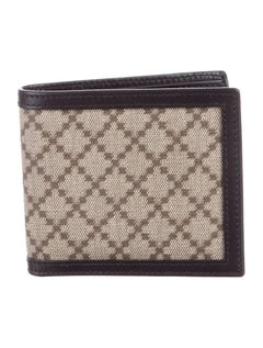 Gucci New Monogram Canvas Leather Men's Bifold Suit Wallet in Box