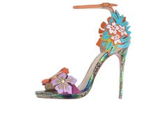 Christian Louboutin New Limited Edition Snake Floral Sandals Heels in Box