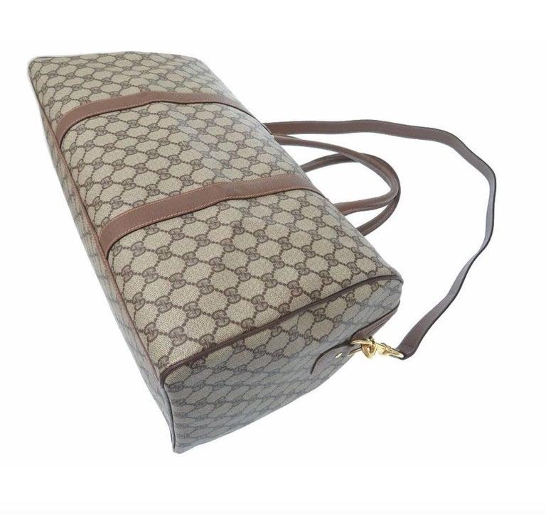 c6e1fac74b1 Women's Gucci Monogram GG Supreme Men's Travel Carryall Duffel Tote Shoulder  Bag For Sale