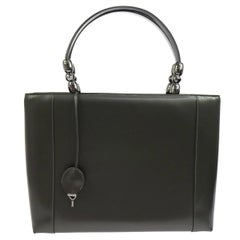 Christian Dior Patent Leather Pearl Top Handle Satchel Evening Bag