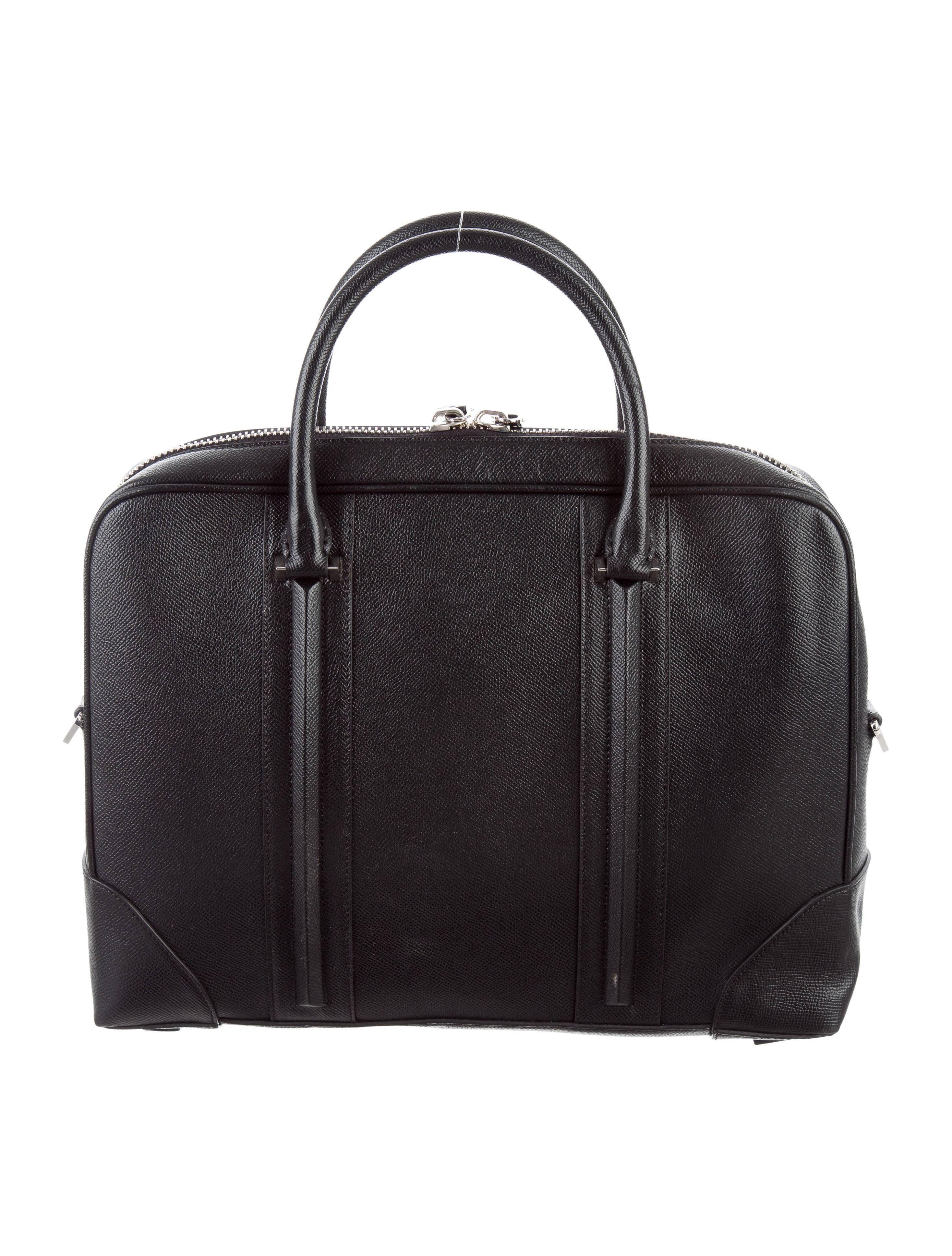 Givenchy New Black Leather Mens Business Travel Briefcase Tote Shoulder Bag mBlraT