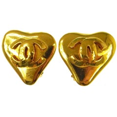 Chanel Gold Charm Evening Stud Earrings