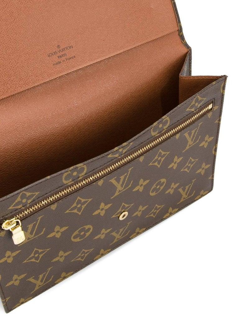louis vuitton monogram envelope evening envelope flap clutch bag at 1stdibs