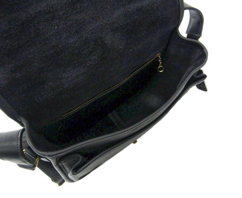 Coach Vintage Archive Black Leather Saddle Crossbody Shoulder Flap Bag at  1stdibs 2c03ebba0c88d