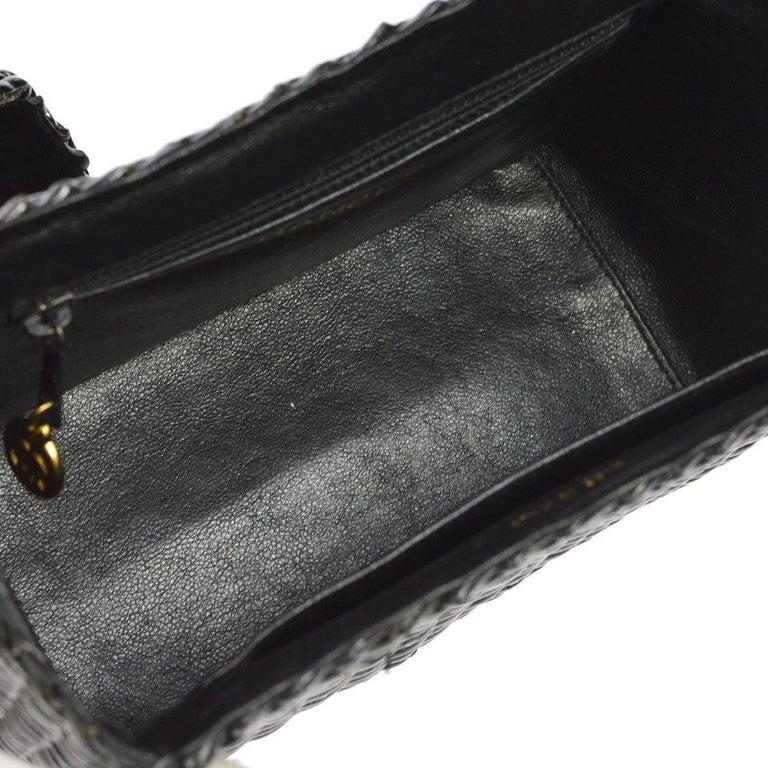 Chanel Rare Black Wicker Picnic Lunch Box Evening Shoulder Bag 1