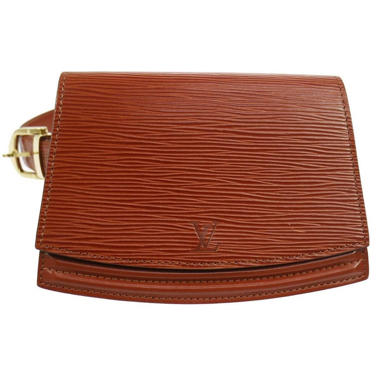 Louis Vuitton Cognac Leather Men's Women's Fanny Pack Waist Bag