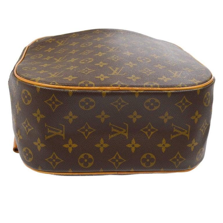 Louis Vuitton Monogram Men's Women's Carryall Travel One Shoulder Backpack Bag For Sale 2