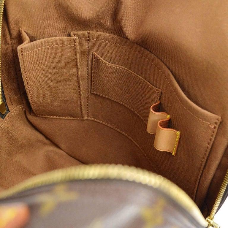 Louis Vuitton Monogram Men's Women's Carryall Travel One Shoulder Backpack Bag For Sale 4