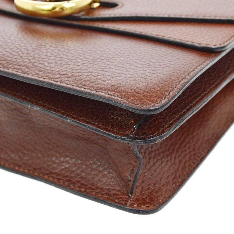 5ca370d78ca5 Women's Celine Cognac Leather Gold Kelly Style Evening Top Handle Satchel  Flap Bag For Sale