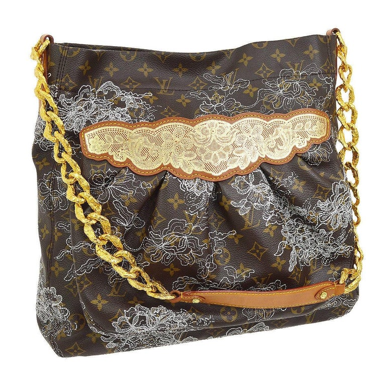 Louis Vuitton Limited Edition Monogram Gold Chain Evening Shoulder Bag