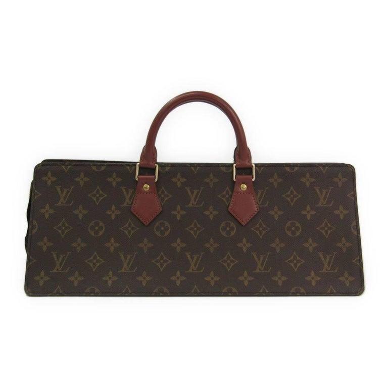 Louis Vuitton Limited Edition Monogram Red Trim Evening Top Handle Satchel